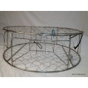 """CT008 Pacific Stainless Steel Commercial Rigid Crab Trap 30"""""""